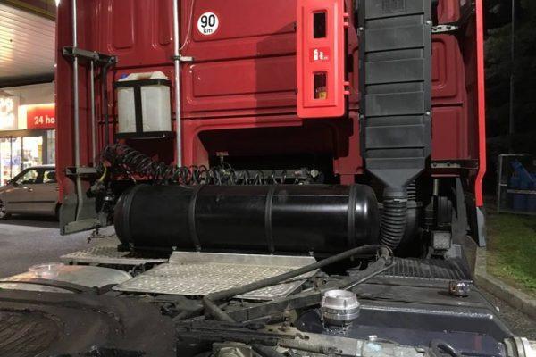 DAF XF 105 nádrž LPG za kabinou Dieselgas