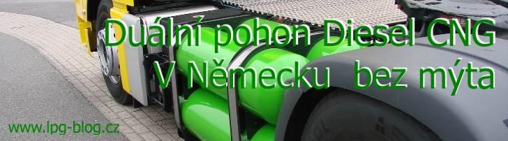 Diesel CNG v Německu bez mýta oad 1.1.2019
