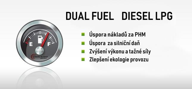Kalkulátor rentability Dual Fuel Diesel LPG výhody
