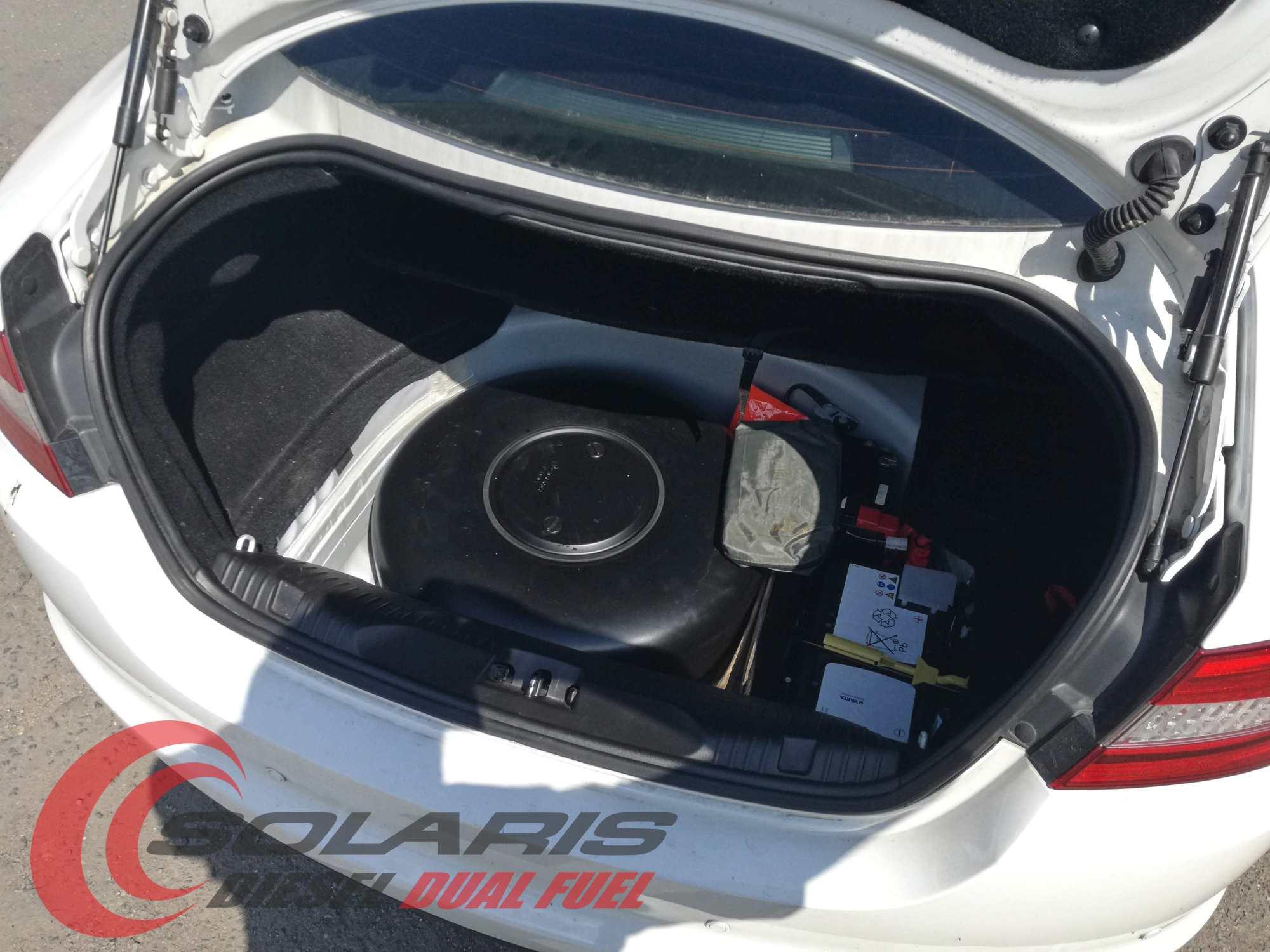 Jaguar 2.2 diesel přestavba na duální pohon diesel+lpg se systémem Solaris Diesel LPG