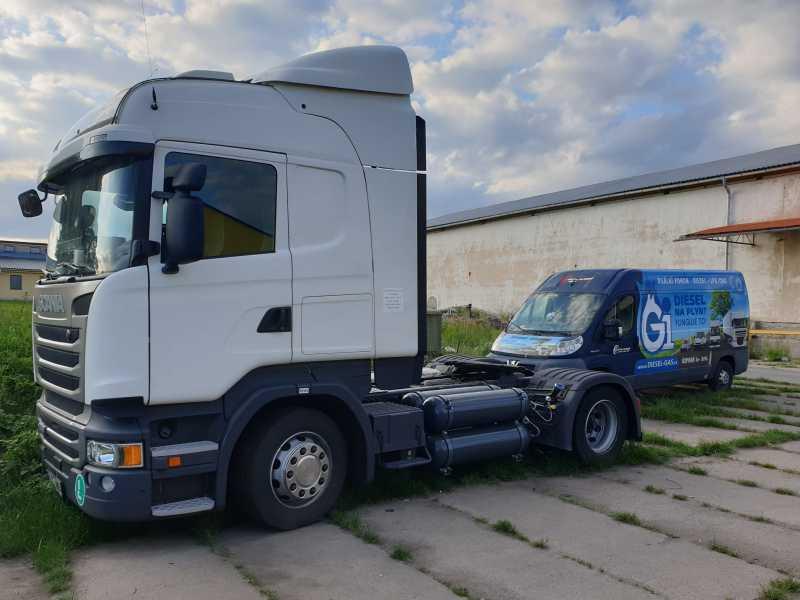 Scania R450 Dual Fuel Diesel CNG