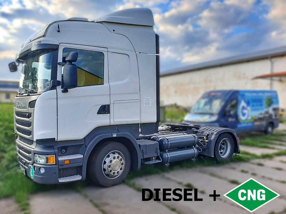 Scania R450 Euro 6 diesel+CNG duální pohon
