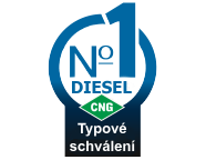 Diesel CNG typové schválení a homologace systému pro duální pohony dieselů