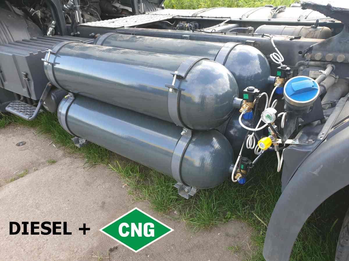 Nádrž CNG SCANIA R450 4x80litrů = 55kg CNG