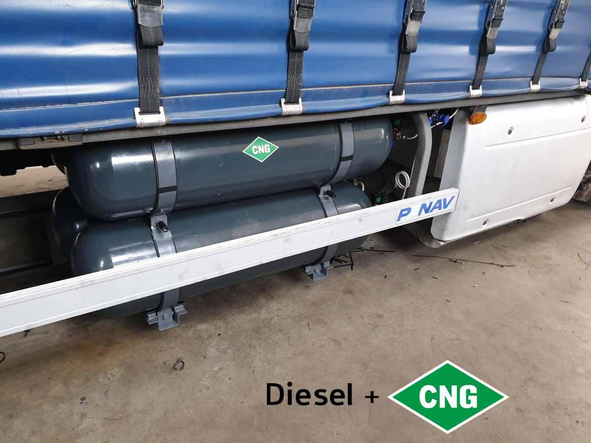 DAF XF 460 nafta+CNG - nádrže CNG 4x80l